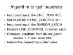 algorithm to get baudrate