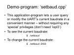 demo program setbaud cpp