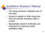 qualitative research method49