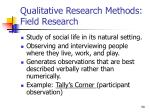 qualitative research methods field research