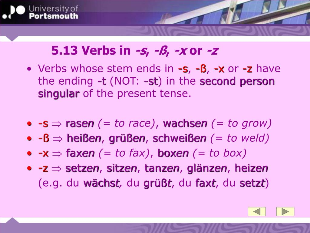 5.13 Verbs in