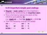 5 29 imperfect simple past endings