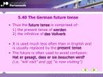 5 40 the german future tense