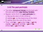 5 42 the past participle