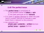 5 45 the perfect tense