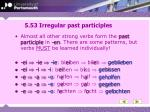5 53 irregular past participles
