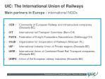 main partners in europe international ngos