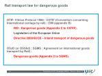 rail transport law for dangerous goods