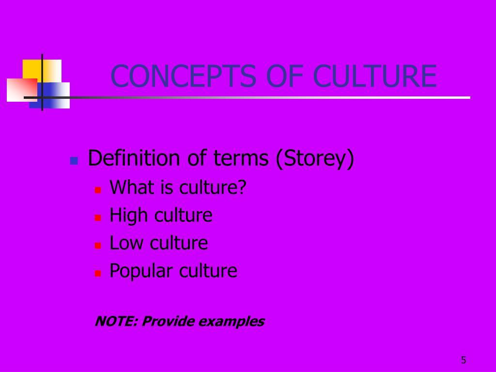CONCEPTS OF CULTURE