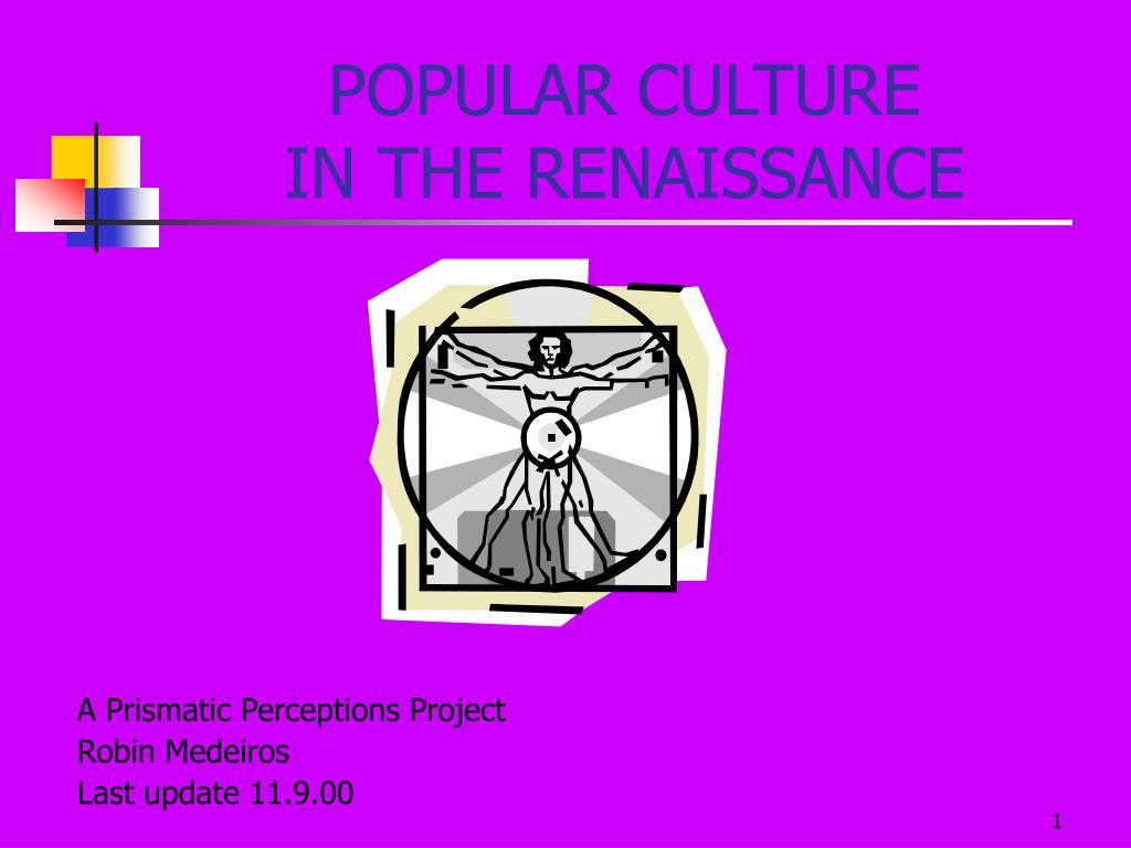 popular culture in the renaissance l.