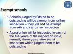 exempt schools