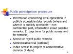 public participation procedure
