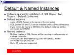 default named instances