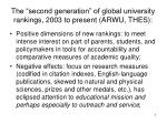 the second generation of global university rankings 2003 to present arwu thes