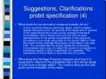 suggestions clarifications probit specification 4