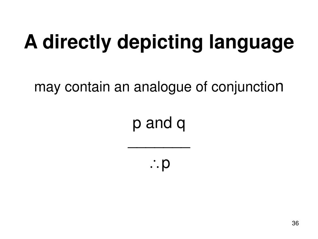 A directly depicting language