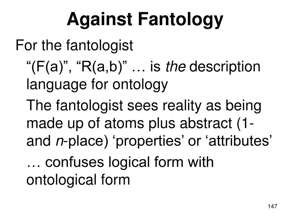 Against Fantology