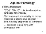 against fantology