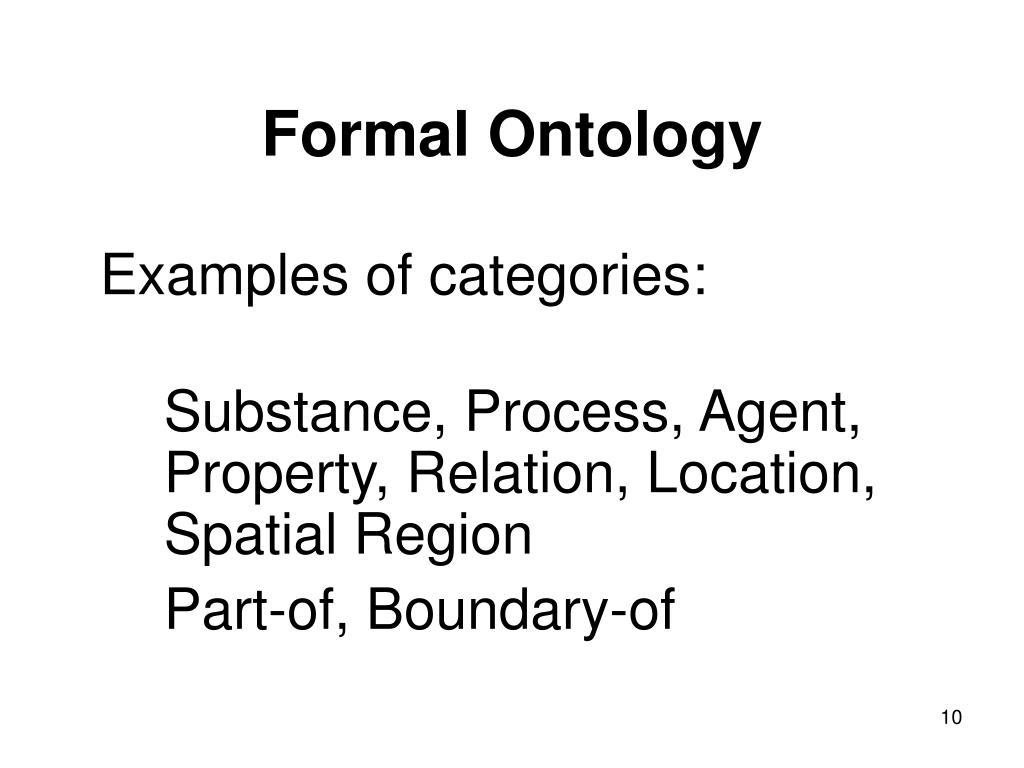 Formal Ontology