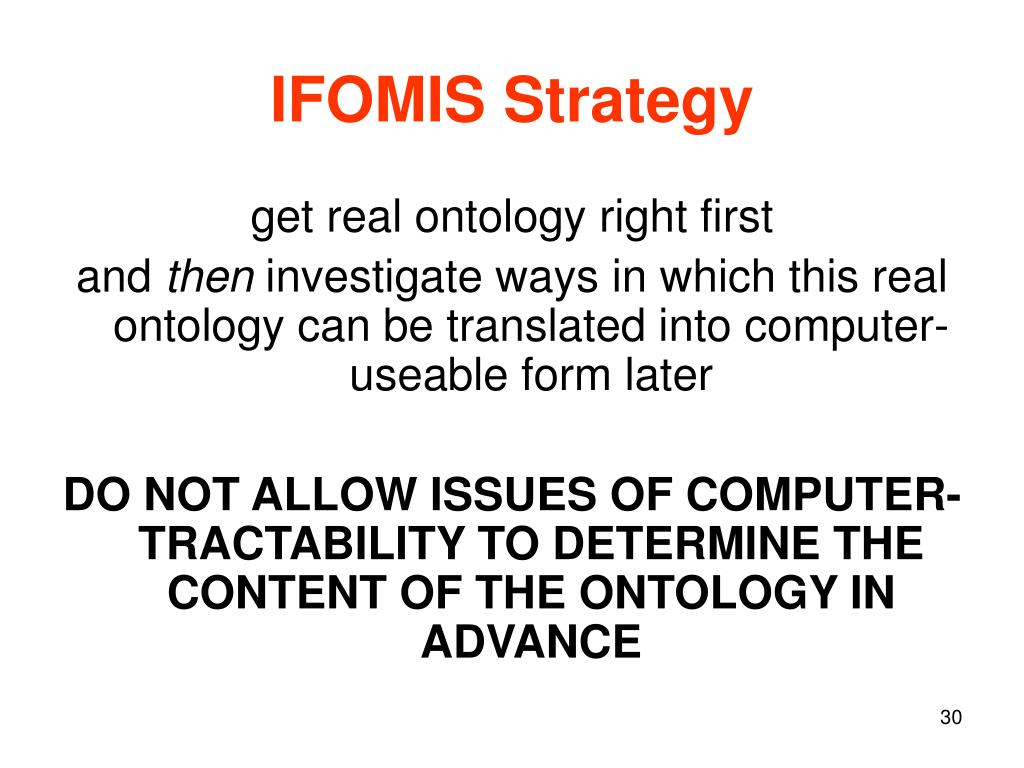 IFOMIS Strategy