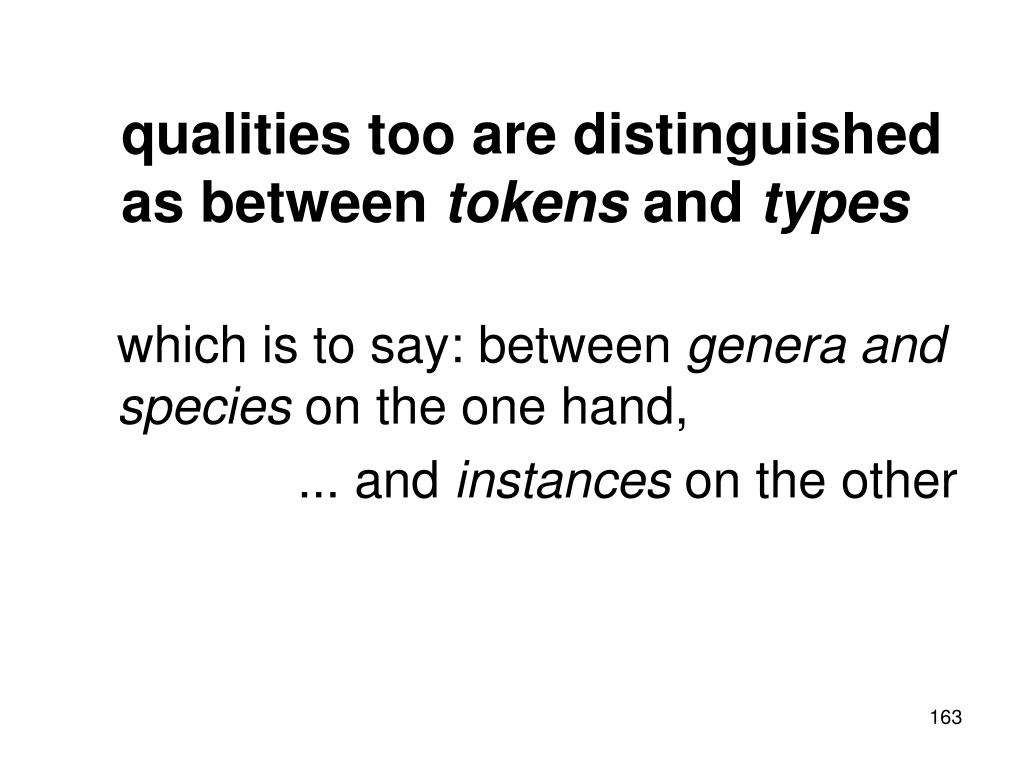 qualities too are distinguished as between