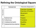 refining the ontological square174