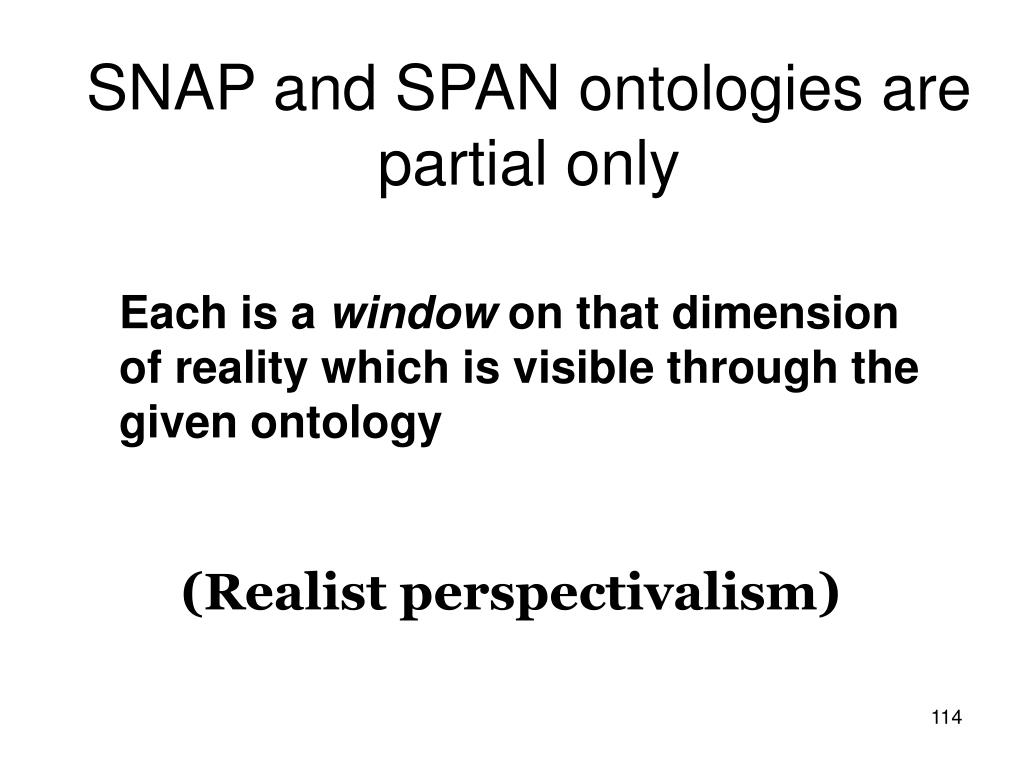 SNAP and SPAN ontologies are partial only