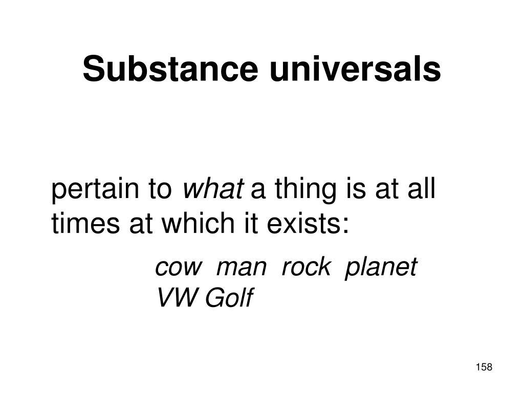 Substance universals
