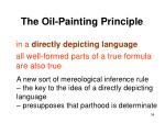 the oil painting principle