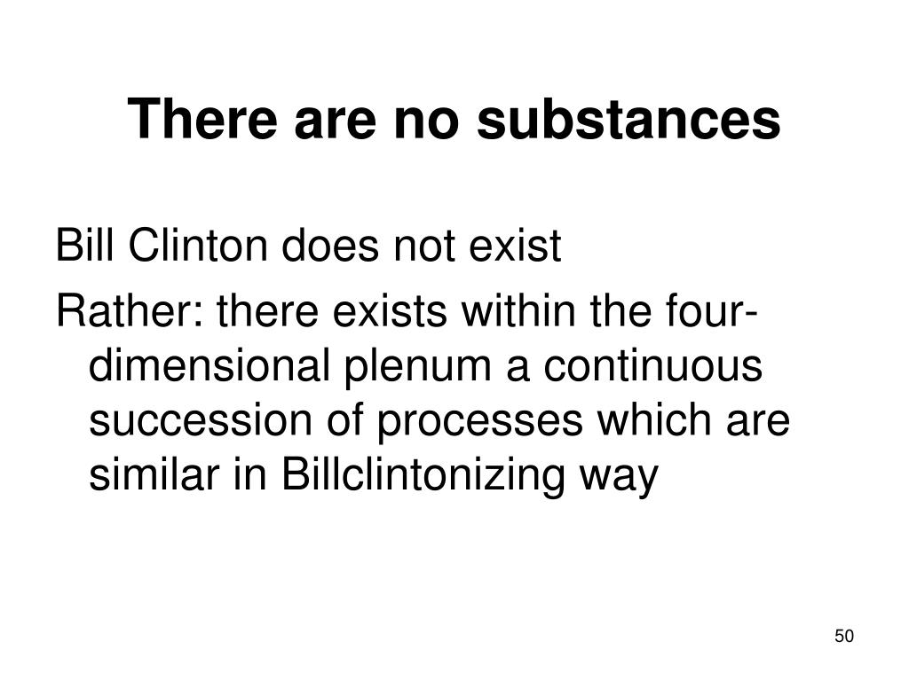 There are no substances