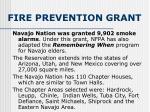 fire prevention grant