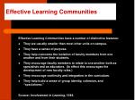 effective learning communities