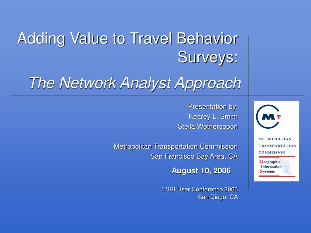 adding value to travel behavior surveys l.