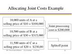 allocating joint costs example