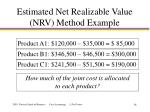 estimated net realizable value nrv method example14