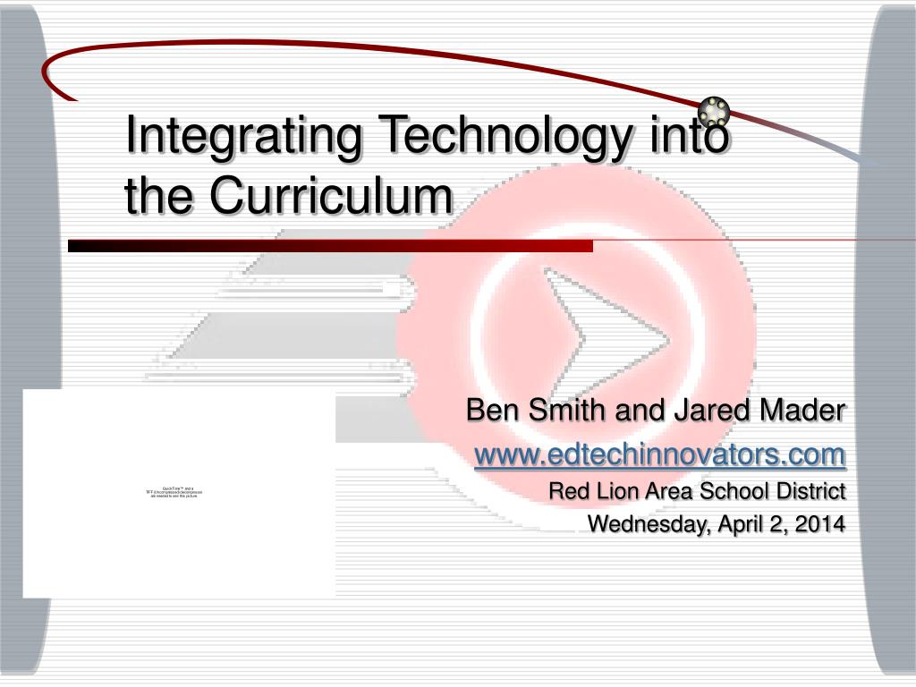 integrating technology into the curriculum l.
