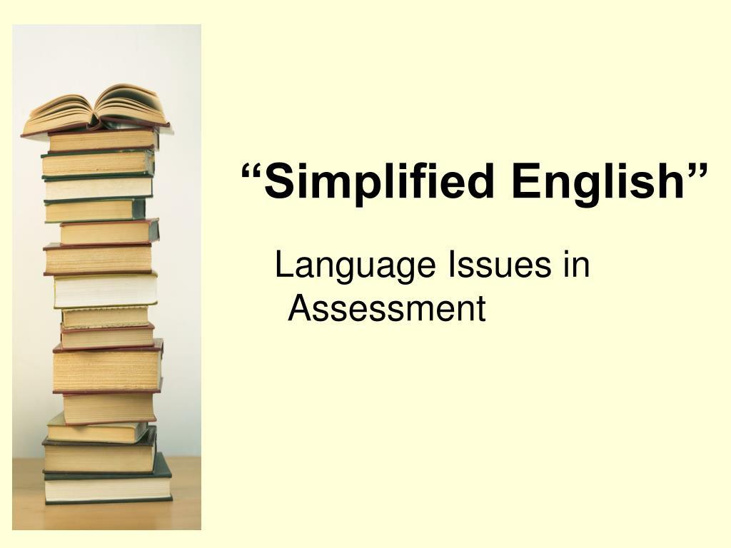 simplified english l.