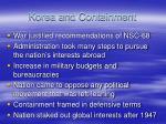 korea and containment