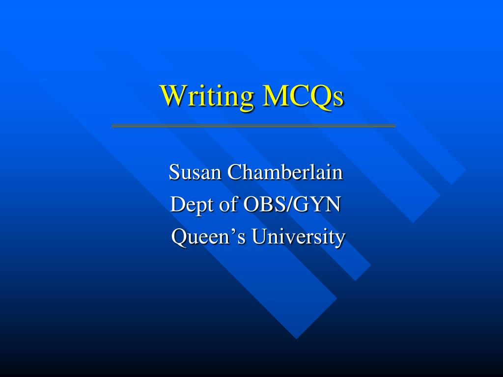 writing mcqs l.