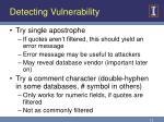 detecting vulnerability