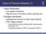 how to prevent attacks 1
