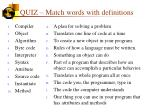 quiz match words with definitions