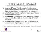 hyflex course principles