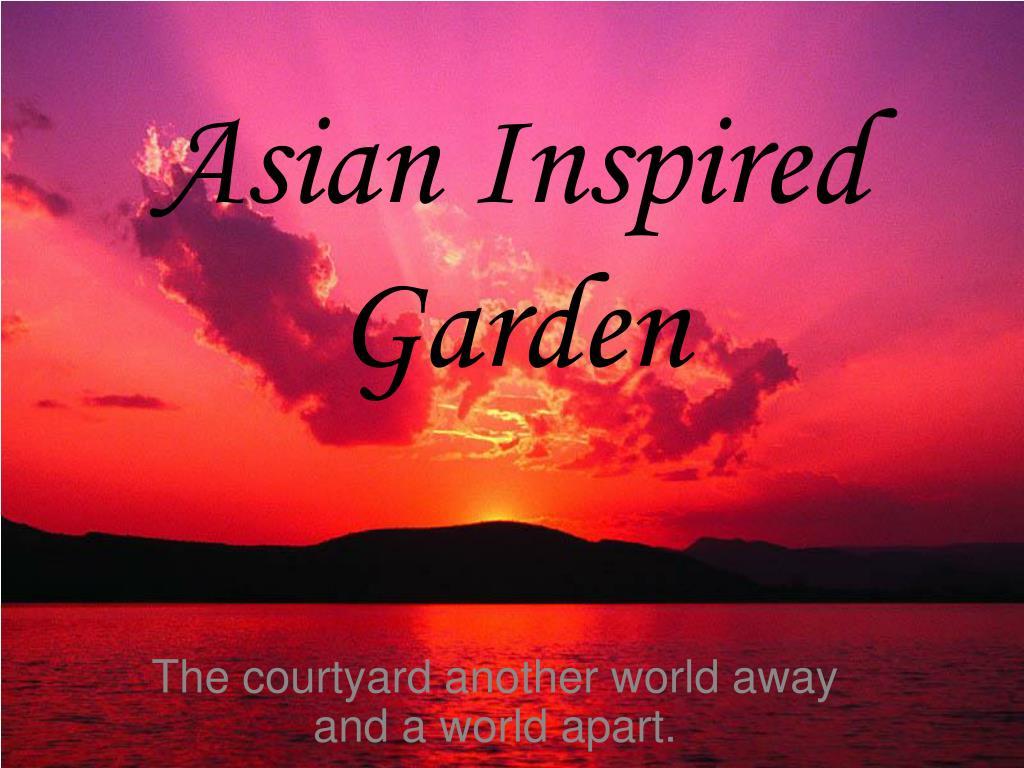asian inspired garden l.