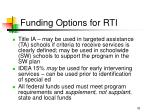 funding options for rti