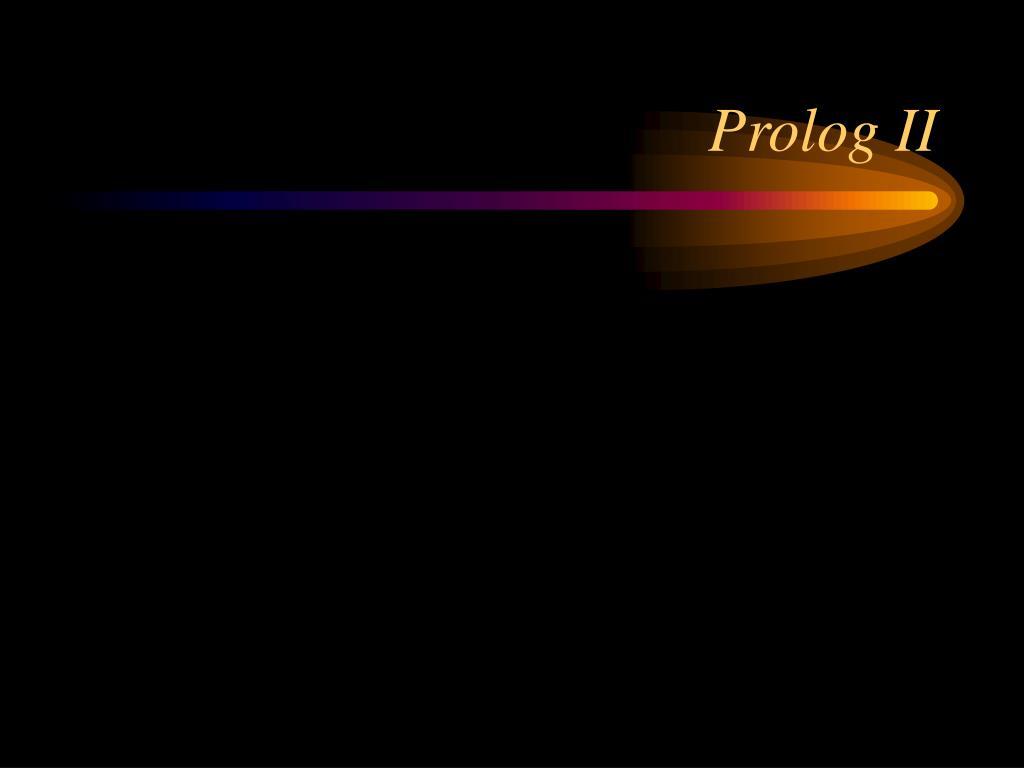 prolog ii l.