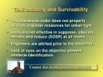 ta 6 mobility and survivability