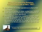 urban focused pre rotation assumptions as of nov 1997