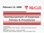 reimbursement of expenses policies procedures
