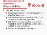 reimbursement of expenses responsibilities21